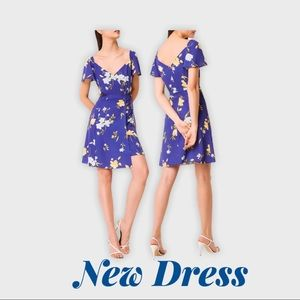 NWT French connection floral crepe dress 0